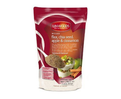 Linwoods Milled Flaxseed Chia Apple & Cinn [200g x 12]