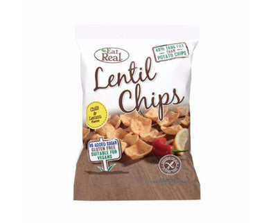 Eat Real Lentil Chilli & Lemon Chips [40g x 12]