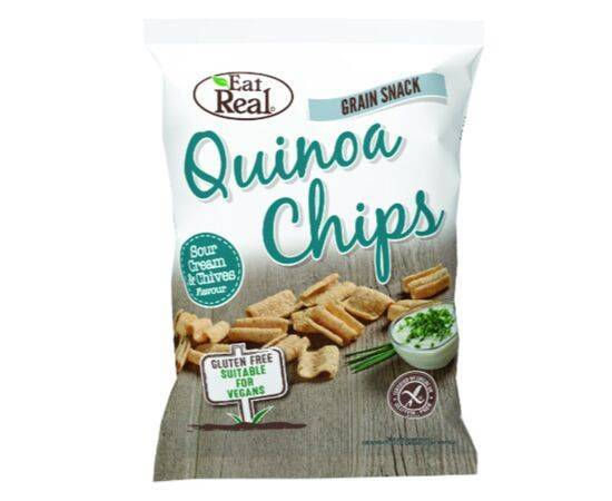 Eat Real Quinoa Cream & Chive Chips [30g x 12]