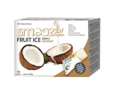 Smooze Simply Coconut Fruit Ice [(65mlx5) x 6]