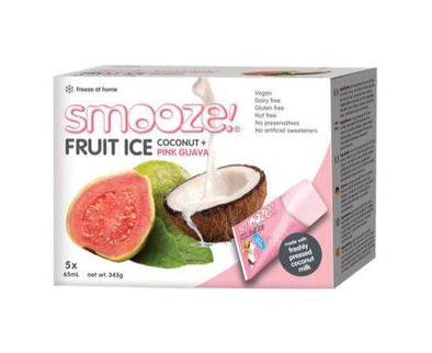 Smooze Pink Guava Fruit Ice [(65mlx5) x 6]