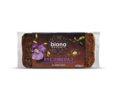 Biona Rye Omega 3 Golden Linseed Bread [500g]