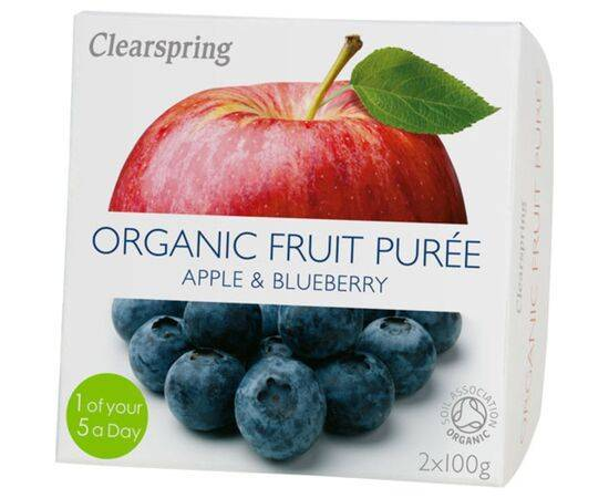Clearspring Apple & Blueberry Fruit Puree [100g x 2]