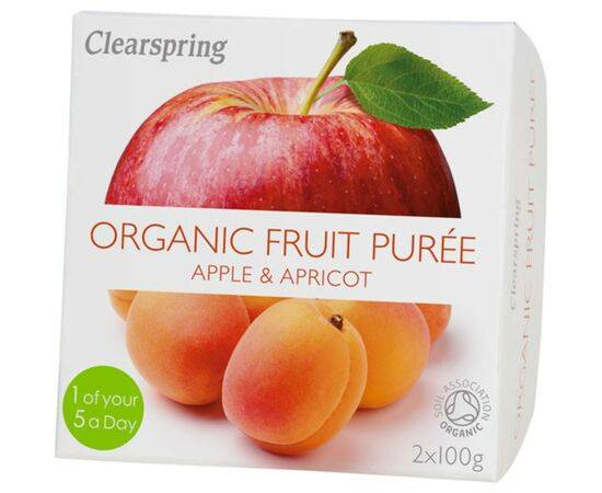 Clearspring Apple & Apricot Fruit Puree [100g x 2]