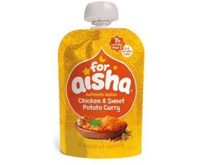 For Aisha Indian ChickenS/Potato Curry 7m+ [130g x 6]