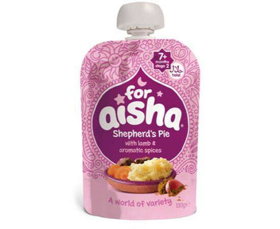 For Aisha Shepherds Pie Lamb/Spice 7m+ [130g x 6]