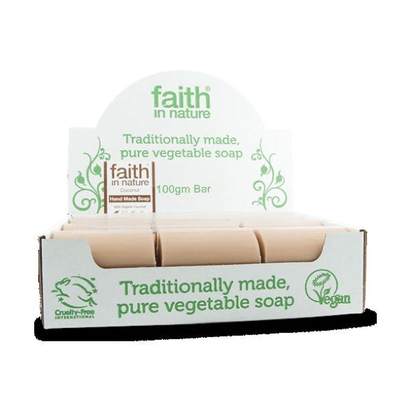 Faith In Nature Coconut Soap (Bulk) 100g x 18 - ArryBarry