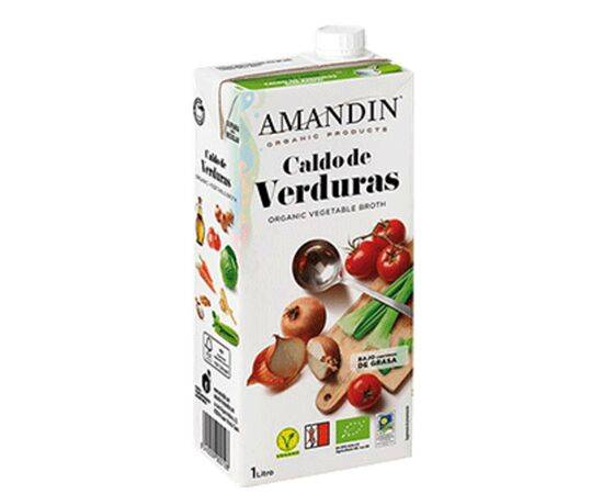 AMANDIN ORGANIC VEGETABLE STOCK 1LTR