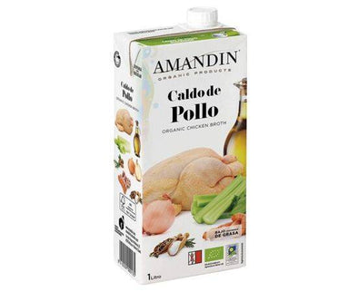 AMANDIN ORGANIC CHICKEN STOCK 1LTR