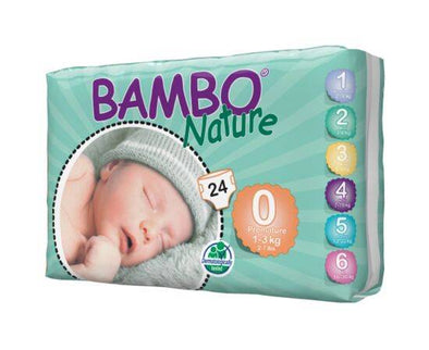 BAMBO NATURE NAPPIES PREMATURE SIZE 0 24S