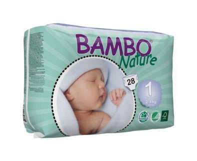 BAMBO NATURE NAPPIES NEW BORN SIZE 1 28S