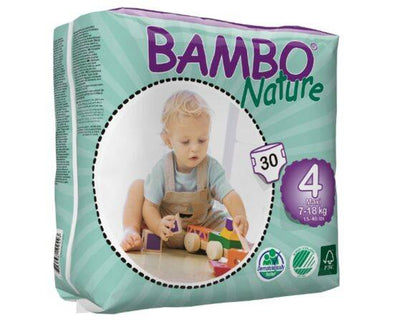 BAMBO NATURE NAPPIES MAXI SIZE 4 30S
