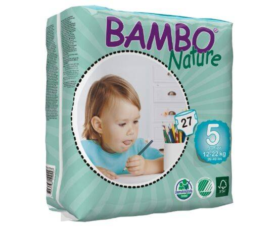BAMBO NATURE NAPPIES JUNIOR SIZE 5 27S