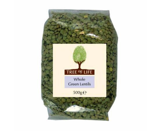 Tree Of Life Lentils - Whole Green [500g x 6]