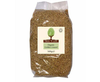 Tree Of Life Organic Linseed  Golden 500g x 6