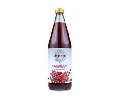 Biona Cranberry Fruit Drink - No Added Sugar [750ml]