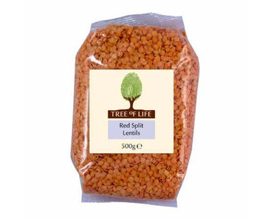Tree Of Life Lentils - Split Red [500g x 6]