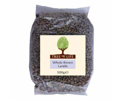 Tree Of Life Lentils  Whole Brown 500g x 6