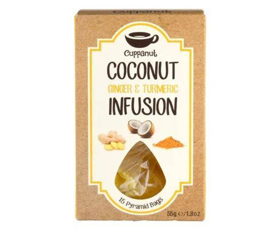 Cuppanut Coconut Ginger & Turmeric Infusion 15 Bags
