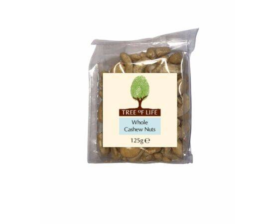 Tree Of Life Cashew Nuts  Whole 125g x 6