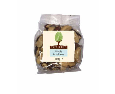 Tree Of Life Brazil Nuts - Whole [200g x 6]
