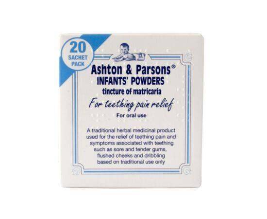 ASHTON & PARSONS TEETHING POWDERS 20S