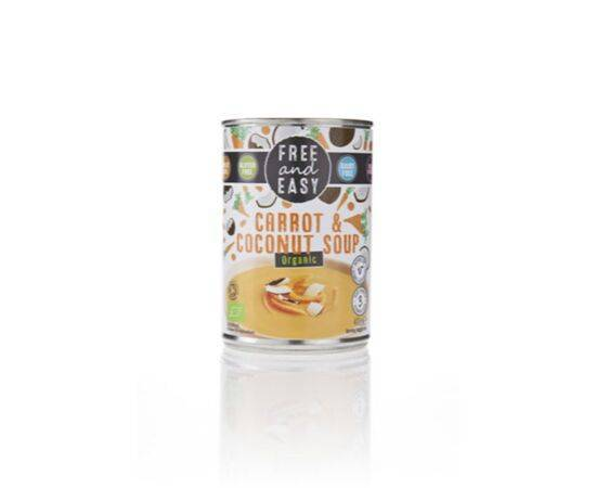 Free & Easy Carrot & Coconut Soup 400g x 6