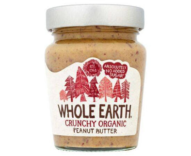 Whole Earth Peanut Butter  Organic Crunchy 227g