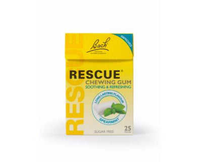 Bach Rescue Spearmint Chewing Gum [25 Pack x 6]