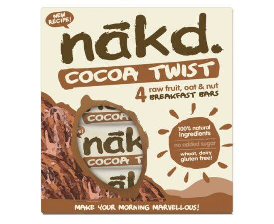 Nakd Cocoa Twist Bar Multipack [(30gx4)]