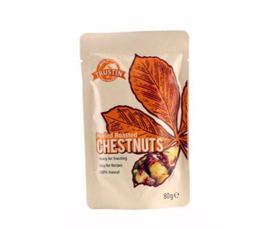 Trustin Foods Peeled Roasted Chestnuts [80g x 12]
