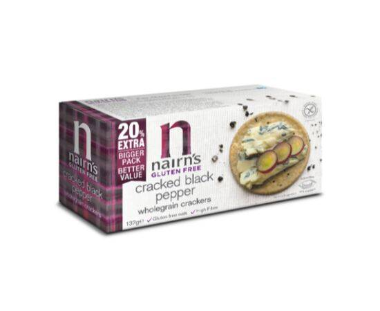 Nairns GF Cracked Blk Pepper Wholegrain Cracker [114g]