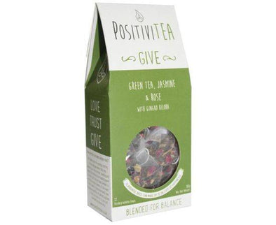 Positivitea Green Tea Jasmine & Rose 12 Bags