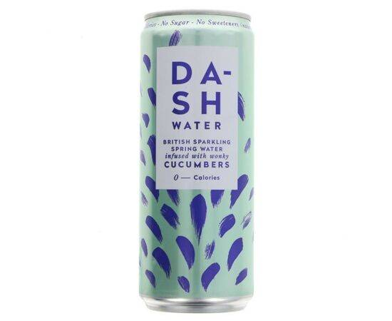 Dash Water Sparkling Cucumber [330ml x 12]