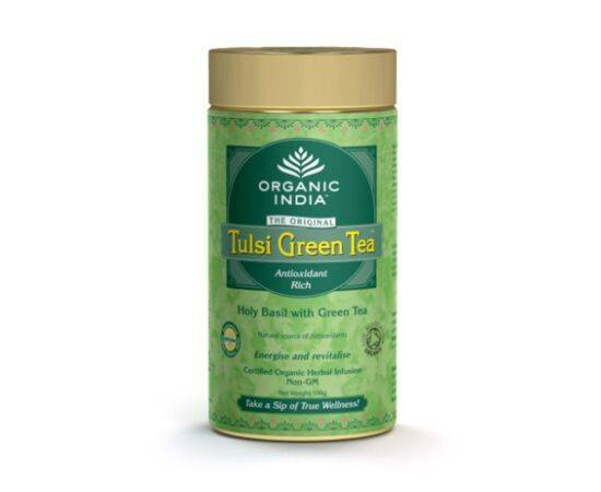 Organic India Tulsi GreenLoose Tea [100g]