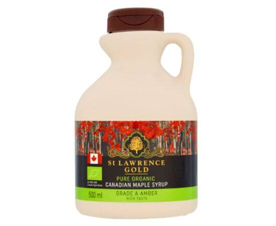 St Lawrence Gold OrganicAmber Maple Syrup [500ml]
