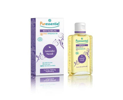 ALLOGA UK PURESSENTIEL REST & RELAX ORGANIC MASSAGE OIL 100ML