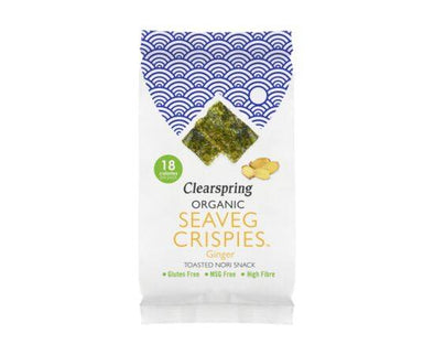 Clearspring Org Seaveg Crispies Ginger [4g x 16]