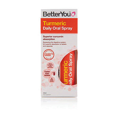 BetterYou® Turmeric Oral Spray 1300 mg Orange Flavour 1 Pack