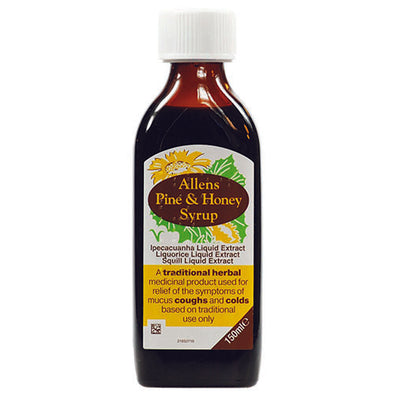 Allens Honey Syrup Liquid Bottle Children 150 ml