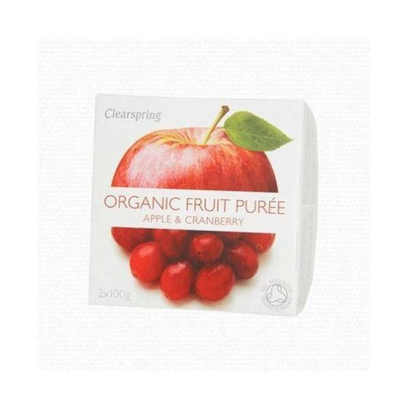 Clearspring Apple & Cranberry Fruit Puree [100g x 2]