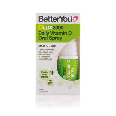 BetterYou® Vitamin D3 Oral Spray Peppermint Flavour 3000 IU 15 ml