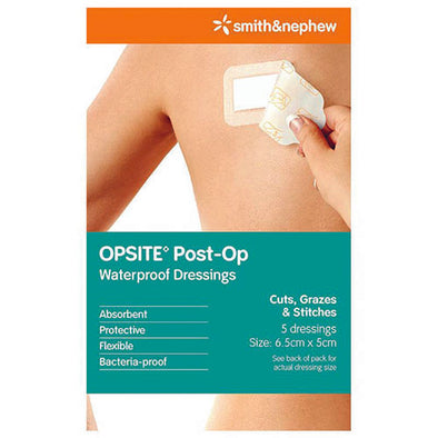 Opsite® Wound Dressing Rectangle White 6.5 x 5 cm 1 Pack