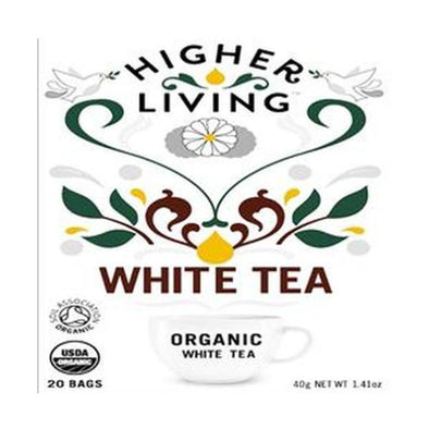 Higher Living White Tea  Enveloped 20 Bags