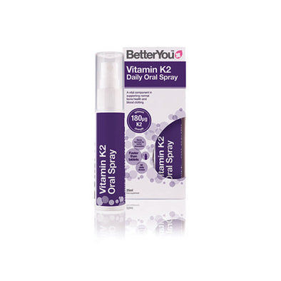 BetterYou® K2 Oral Spray for 3+ years Babies 25 ml 180 µg Vegetarian Aerosol Can 1 Pack
