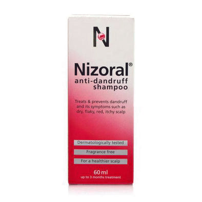 Nizoral® Anti Dandruff Shampoo 60 ml Liquid Bottle