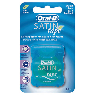 Oral-B® Statin Tape Dental Floss Mint Silky Ribbon 25 m