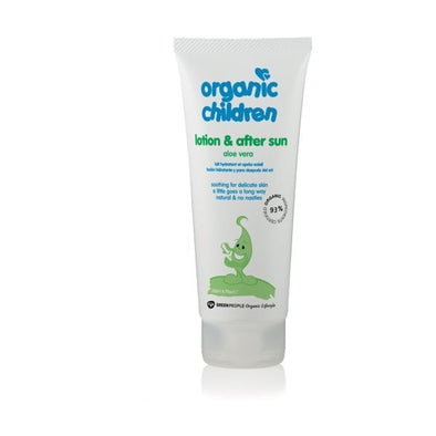 Green People Childrens Aloe Vera & After Sun Lotion  Organic 200ml