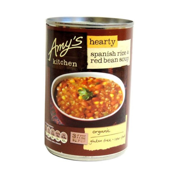 AMYS HEARTY SPANISH RICE & RED BEAN SOUP 416G X 6