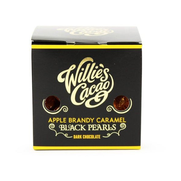 Willies Black Pearls Apple Brandy Caramel Chocolates 150g